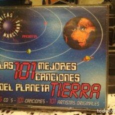 CDs de Música: CD LAS 101 MEJORES CANCIONES DEL PLANETA TIERRA CRONICAS MARCIANAS 5 CDS. Lote 194732327
