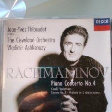 CDs de Música: RACHMANINOV, JEAN-YVES THIBAUDET,VLADIMIR ASHKENAZY – PIANO CONCERTO NO.4- PRELUDE IN C SHARP MINOR. Lote 194748661