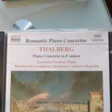 CDs de Música: RAZUMOVSKY SYMPHONY ORCHESTRA, ANDREW MOGRELIA, THALBERG – PIANO CONCERTO IN F MINOR. Lote 194748787