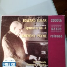 CDs de Música: SIR EDWARD ELGAR – THE SKETCHES FOR SYMPHONY NO. 3, ELABORATED BY ANTHONY PAYNE. Lote 194749100
