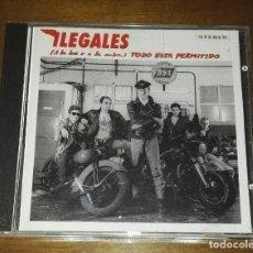 CDs de Música: ILEGALES ( A LA LUZ Y A LA SOMBRA) TODO ESTA PERMITIDO AÑO 1990 CD. Lote 194752217