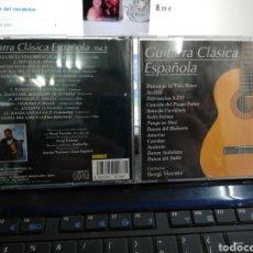 CDs de Música: SERGI VICENTE CD GUITARRA CLÁSICA ESPAÑOLA VOL.2 1997. Lote 194767653