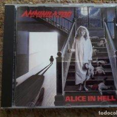 CDs de Música: ANNIHILATOR , ALICE IN HELL , CD 1989 SIN REMASTERIZAR, ESTADO IMPECABLE . Lote 194774893