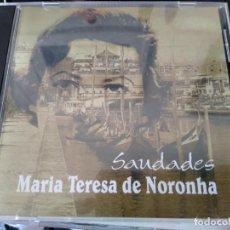 CDs de Música: MARIA TERESA DE NORONHA -CD SAUDADES -DESCATALOGADO MUSICA DE PORTUGAL -FADOS. Lote 194863210