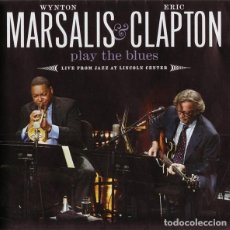 CDs de Música: WYNTON MARSALIS & ERIC CLAPTON PLAY THE BLUES - LIVE FROM LINCOLN CENTER - CD + DVD. Lote 194883755