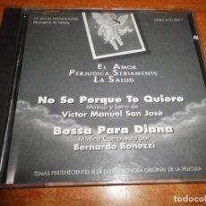 CDs de Música: EL AMOR PERJUDICA SERIAMENTE LA SALUD BANDA SONORA CD SINGLE PROMO BERNARDO BONEZZI VICTOR MANUEL. Lote 194883916