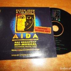 CDs de Música: ELTON JOHN & TIM RICE´S EASY AS LIFE BANDA SONORA AIDA CD SINGLE PROMO DEL MUSICAL BROADWAY 4 TEMAS. Lote 194884775