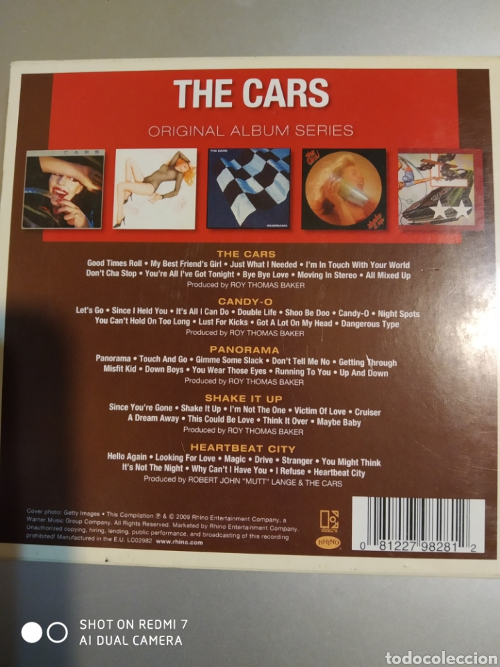 CDs de Música: The Cars. Original álbum series. Son 5 álbumes - Foto 2 - 194894215
