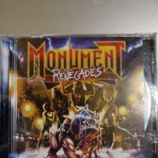CDs de Música: MONUMENT. RENEGADES.. Lote 194895360