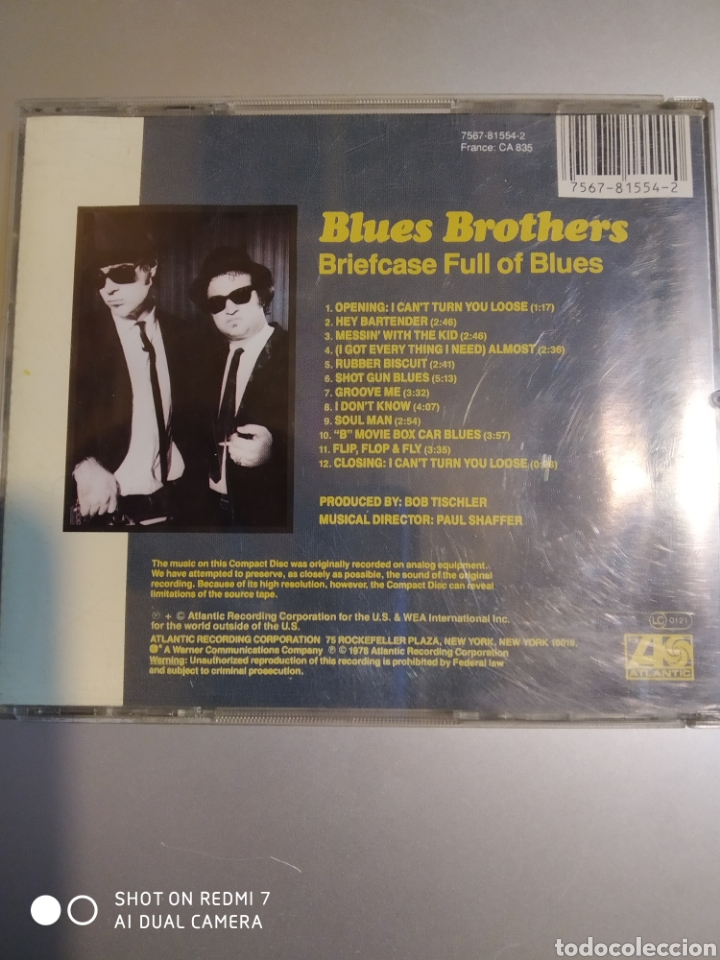 CDs de Música: Blues brothers . Briefcase full of blues . - Foto 2 - 194898157