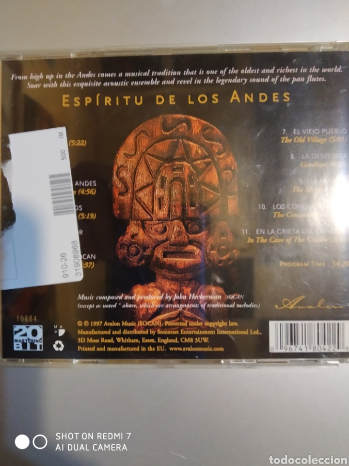 CDs de Música: Espíritu de los Andes - Foto 3 - 194906442