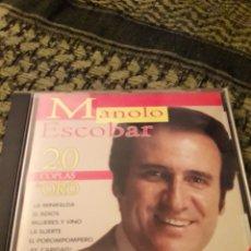CDs de Música: MANOLO ESCOBAR. 20 COPLAS DE ORO VOL. 1. EDICION DE 1999. Lote 194907262