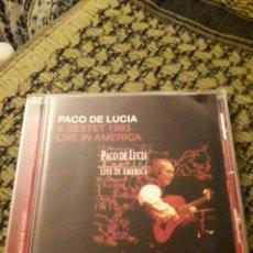 CDs de Música: PACO DE LUCÍA & SEXTET 1993 LIVE UN AMÉRICA. EDICION DE 2005.. Lote 194907300