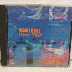 CDs de Música: MIGUEL BOSE - DIRECTO '90 - CD - 1991 - WEA - GERMANY - EX+/EX+. Lote 194915870