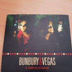 CDs de Música: 2CDS EL TIEMPO DE LAS CEREZAS. ENRIQUE BUNBURY Y NACHO VEGAS. Lote 194937228