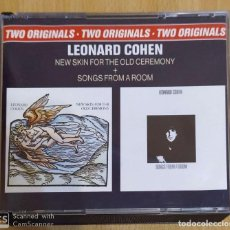 CDs de Música: LEONARD COHEN (NEW SKIN FOR THE OLD CEREMONY + SONGS FROM A ROOM) 2 CD'S 1988. Lote 194948250