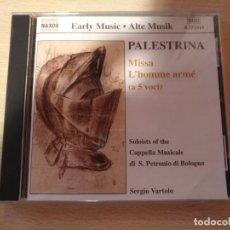 CDs de Música: CD -PALESTRINA - MISSA L'HOMME ARMÉ ( A 5 VOCI) NAXOS (2000). Lote 194951606