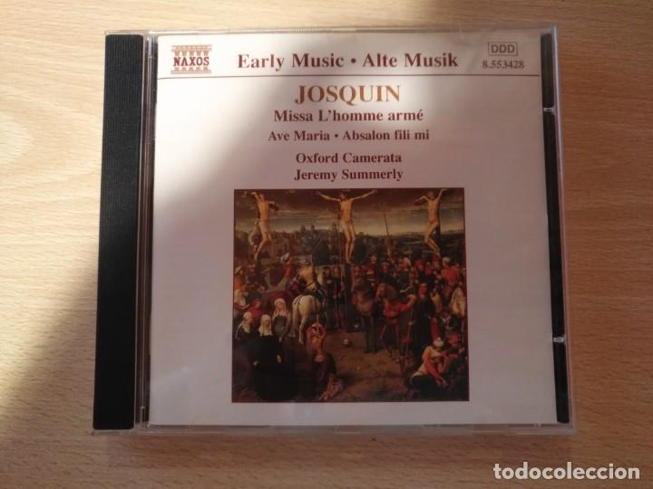 CD -JOSQUIN - MISSA L'HOMME ARMÉ - AVE MARIA (JEREMY SUMMERLY) - NAXOS (1998) (Música - CD's Clásica, Ópera, Zarzuela y Marchas)