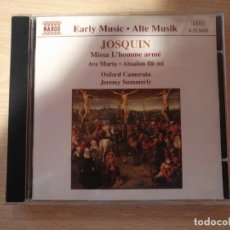 CD di Musica: CD -JOSQUIN - MISSA L'HOMME ARMÉ - AVE MARIA (JEREMY SUMMERLY) - NAXOS (1998) . Lote 194951903