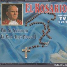 CDs de Música: SU SANTIDAD EL PAPA JUAN PABLO II - EL ROSARIO - 2XCD. Lote 194958002