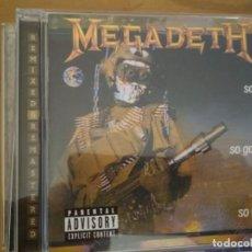 CDs de Música: MEGADETH SO FAR SO GOOD SO WHAT CD REMASTERED BONUS TRACKS. Lote 194960892