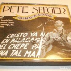 CDs de Música: CD 2 DISCOS PETE SEEGER. SINGALONG. 41 TEMAS. CON LIBRETO 24 HOJAS SMITHSONIAN 1991 USA BUEN ESTADO. Lote 194967581