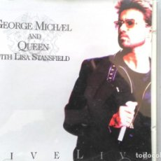 CDs de Música: GEORGE MICHAEL AND QUEEN WITH LISA STANFIELD FIVE LIVE. Lote 194982061