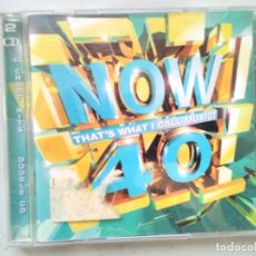 CDs de Música: NOW 40 CD DOBLE. Lote 194983450
