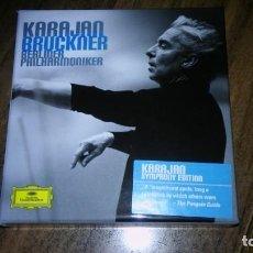 CDs de Música: BRUCKNER - 9 SINFONIAS. BERLINER PHILHARMONIKER, KARAJAN (9 CDS DEUTSCHE GRAMMOPHON). Lote 194992060