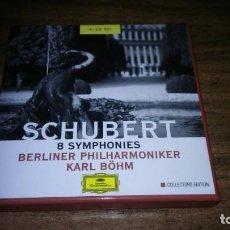 CDs de Música: SCHUBERT - 8 SINFONIAS. BERLINER PHILHARMONIKER, KARL BÖHM (4 CDS DEUTSCHE GRAMMOPHON). Lote 194992665