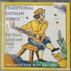 CDs de Música: TRADITIONAL CATALAN SONGS (CD BRILLIANT 2019) THE CANIGO EARLY MUSIC ENSEMBLE. Lote 195003976