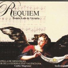 CDs de Música: TOMAS LUIS DE VICTORIA - REQUIEM (CD LICANUS 2006) CAPELLA DE MINISTRERS. Lote 195004281