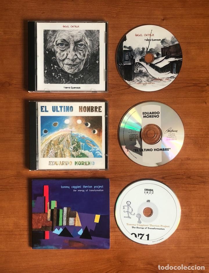 LOT 3 CDS (EDUARDO MORENO - EL ÚLTIMO HOMBRE, TOMMY CAGGIANI THERION PROJECT, ÁNGEL ONTALVA) (Música - CD's Otros Estilos)
