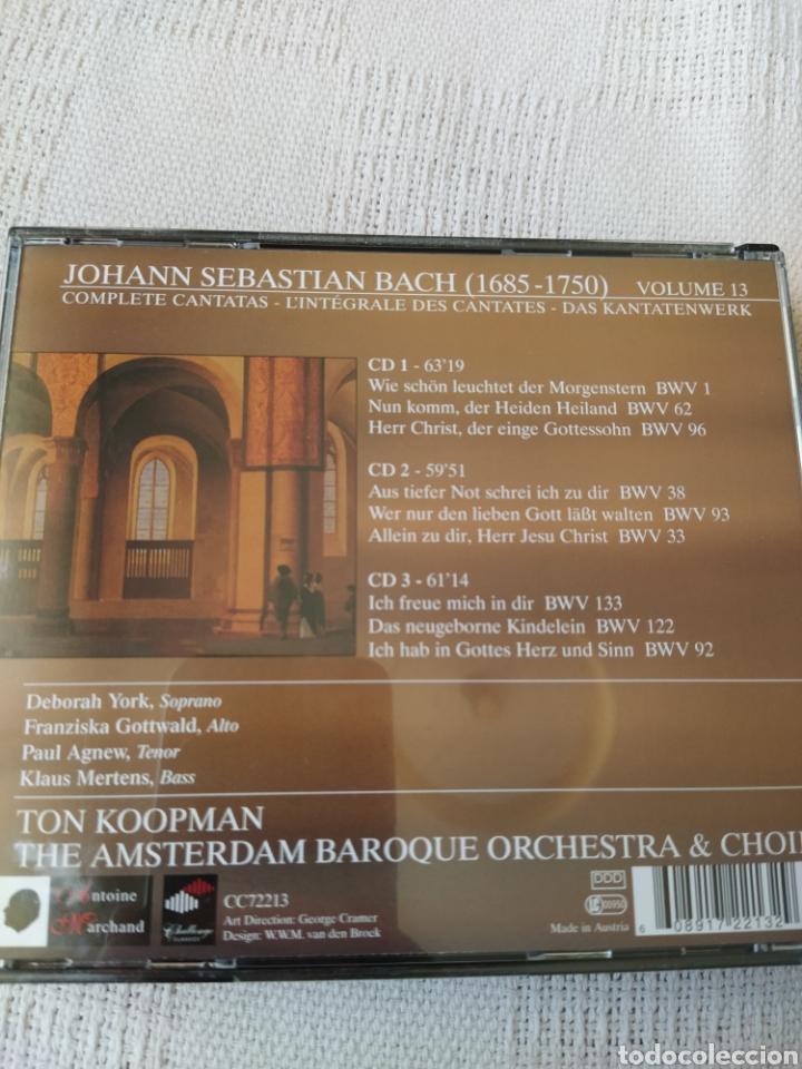 CDs de Música: J S. BACH: Cantatas completas, vol. 13 ( Koopman, 3 CDs) - Foto 2 - 195014006
