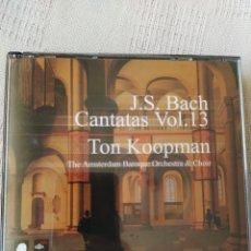 CDs de Música: J S. BACH: CANTATAS COMPLETAS, VOL. 13 ( KOOPMAN, 3 CDS). Lote 195014006