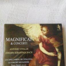CDs de Música: A. VIVALDI Y J.S. BACH: MAGNIFICAT Y CONCERTI (JORDI SAVALL, CD Y DVD). Lote 195014516