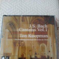 CDs de Música: J.S. BACH: COMPLETE CANTATAS, VOL. 1 (KOOPMAN, 3 CDS). Lote 195027108