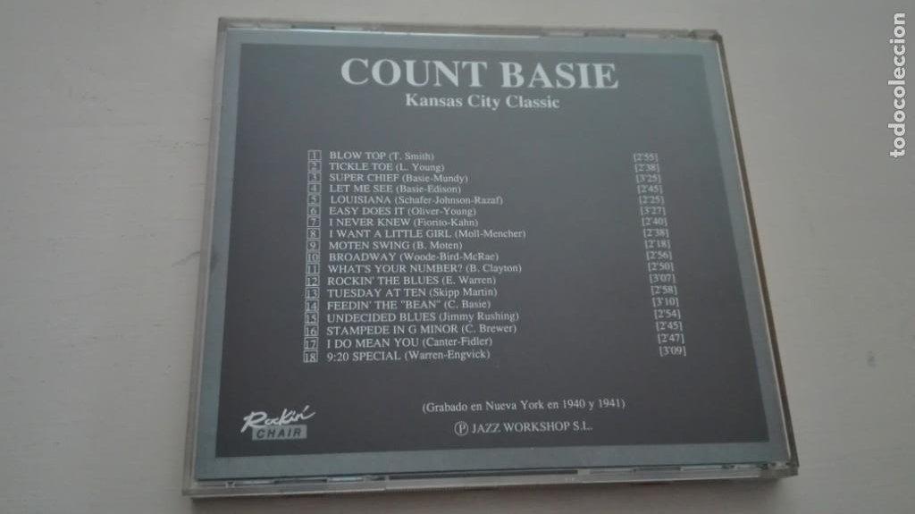 CDs de Música: Count Basie CD Kansas City Classic RockinChair Grabado en Nueva York en 1940 y 1941 - Foto 2 - 195030967