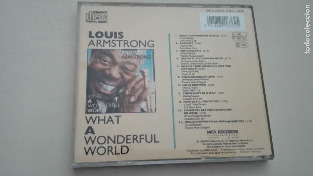 CDs de Música: Louis Armstrong CD What a Wonderful World MCA Records 1988 - Foto 2 - 195031071
