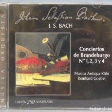 CDs de Música: CD. CONCIERTOS DE BRANDEBURGO 1,2,3,4. BACH. GOEBEL . Lote 195046120