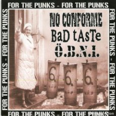 CDs de Música: NO CONFORME / BAD TASTE / O.B.N.I.	- FOR THE PUNKS (3 WAY SPLIT CD). Lote 195054877