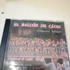 CDs de Música: G-KUKI84 CD MUSICA EL BALCON DE CADIZ COMPARSA INFANTIL CARNAVAL DE CADIZ . Lote 195056851