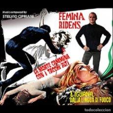 CDs de Música: FEMINA RIDENS + LA MORTE CAMMINA... + L´IGUANA... / STELVIO CIPRIANI 3CD BSO. Lote 195057678
