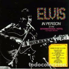 CDs de Música: ELVIS PRESLEY - ELVIS IN PERSON AT THE INTERNATIONAL HOTEL (CD, ALBUM, RE) LABEL:RCA, RCA, BMG, BMG. Lote 195062845