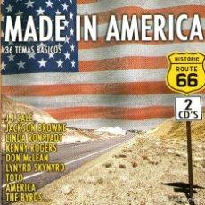 CDs de Música: DOBLE CD ALBUM: MADE IN AMERICA - HISTORIC ROUTE 66 - 36 TRACKS - CONTRASEÑA - AÑO 2004. Lote 195062960