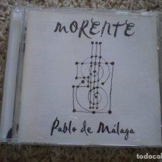 CDs de Música: CD. MORENTE. PABLO DE MALAGA. LIBRETO. MUY BUENA CONSERVACION. Lote 195076022