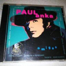 CDs de Música: PAUL ANKA AMIGOS CD AÑO 1996 DUOS CON JULIO IGLESIAS CELINE DION TOM JONES RICKY MARTIN ANDY WARHOL. Lote 195092477