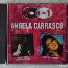 CDs de Música: ANGELA CARRASCO.AMIGO MIO,CUENTA CONMIGO + ANGELA CARRASCO 2 EN 1..RARO. Lote 195141065
