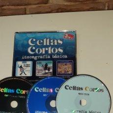 CDs de Música: TRIPLE CD CELTAS CORTOS - DISCOGRAFIA BÁSICA. Lote 195144610
