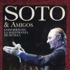CDs de Música: JOSE MANUEL SOTO & AMIGOS (CONCIERTO EN LA MAESTRANZA DE SEVILLA) 2 CD'S + DVD 2011. Lote 195183433